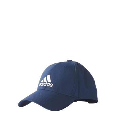 adidas Logo Cap帽子男款女款深藍白