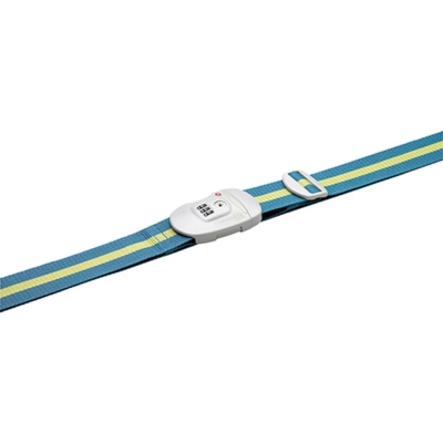 Go Travel  TSA鎖 撞色行李綁帶-藍綠+黃