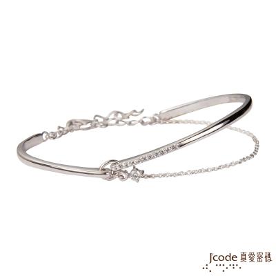 J'code真愛密碼 晶彩戀人純銀手環
