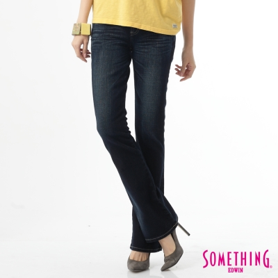 SOMETHING STORYⅠ提臀中直筒靴型褲-女款-原藍磨