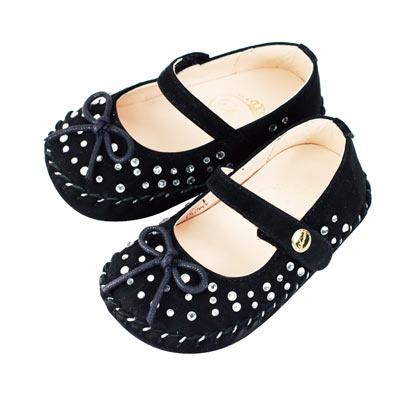 Swan天鵝童鞋- 閃耀水鑽學步鞋1495-黑