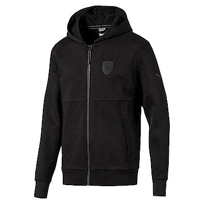 PUMA-男性法拉利經典系列棉質連帽外套-黑色-歐規