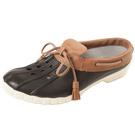 (男/女)Ponic&Co美國加州環保防水洞洞半包式拖鞋-黑色