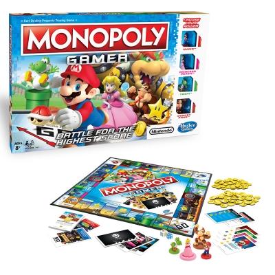 孩之寶Hasbro 桌遊大富翁 MONOPOLY 地產大亨 瑪利歐冒險大挑戰 中文版