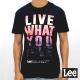 Lee 短袖T恤 螢光漸層文字印刷-男款-深
