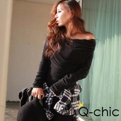 【Q-chic】前衛設計垂墜感連身裙 (共三色)