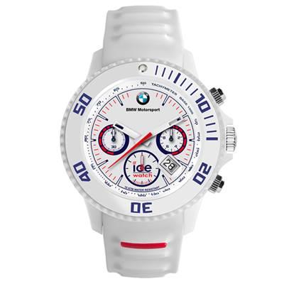 Ice-Watch BMW運動系列 摩登潮流計時手錶-白/53mm