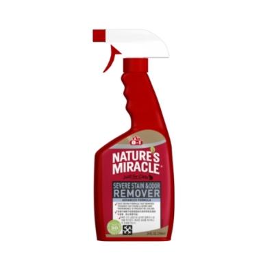 美國8in1 自然奇蹟-貓用活氧酵素去漬除臭噴劑(清新香味) 24oz 2入組