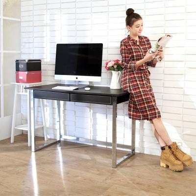 BuyJM馬鞍皮電鍍粗腳雙抽大書桌/電腦桌-DIY