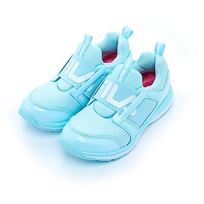 FILA KIDS大童輕量襪套式MD便走鞋-水藍3-J402S-311