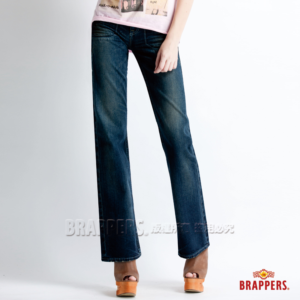 BRAPPERS 女款 Lady Vintage 系列-女用小喇叭褲-深藍 product image 1