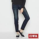 EDWIN 中直筒 迦績褲JERSEYS圓織牛仔褲-女-原藍磨