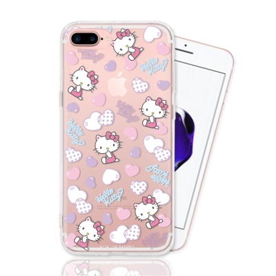 Hello Kitty iPhone 7 Plus 彩繪手機殼-粉彩氣泡