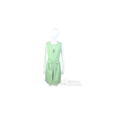 MOSCHINO 粉綠色蝴蝶結飾無袖洋裝