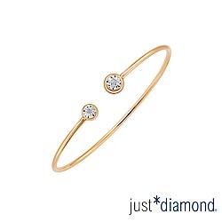 Just Diamond 玫瑰金 鑽石手環-璀璨星光