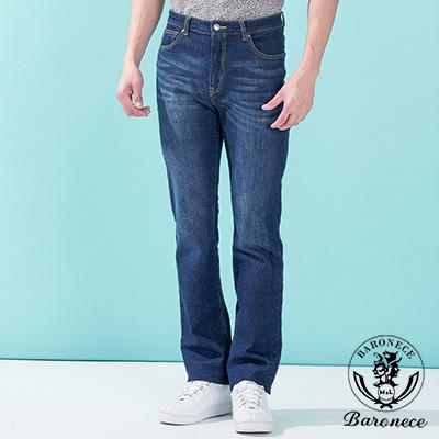 BARONECE 簡約舒適修身款休閒牛仔褲_藍色(517130-09)