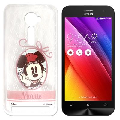 迪士尼 ASUS Zenfone 2 5.0吋 徽章系列透明彩繪手機殼