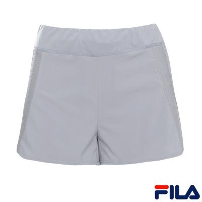 FILA女抗UV平織短褲-灰5SHR-1321-GY