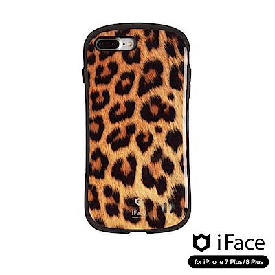 iFace iPhone8/8+ 雙素材吸震抗衝擊手機殼(動物紋)-豹紋