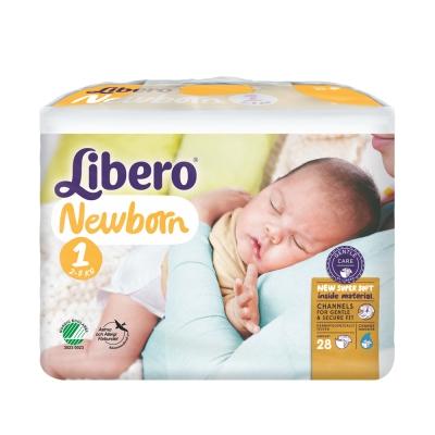 Libero麗貝樂 黏貼式嬰兒紙尿褲(1號NB)(28片x4包)/箱