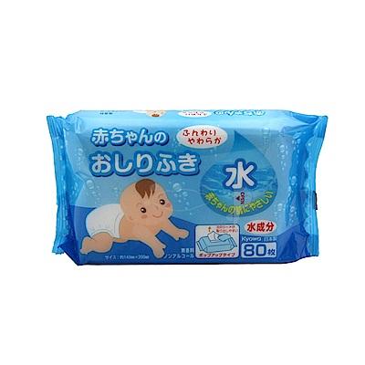 WAVA 日本KYOWA [無酒精/香料]寶寶臀部濕紙巾80枚