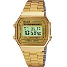 CASIO 城市光廊數位腕錶 (A-168WG-9)-【金色版】