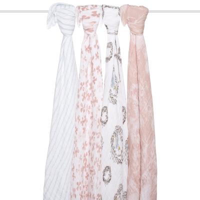 美國aden+anais輕柔新生兒包巾(4入)-鳥語系列AA2062