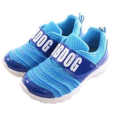 BOB DOG網布魔鬼貼運動鞋 藍 sk0202 魔法Baby