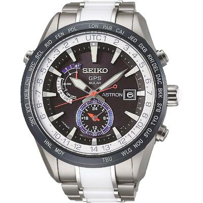 SEIKO精工 ASTRON GPS 太陽能【鈦】陶瓷限量電波腕錶(SAS029J1)