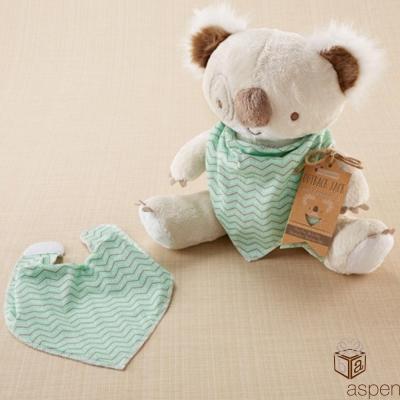 Baby Aspen 無尾熊圍兜玩偶二件組