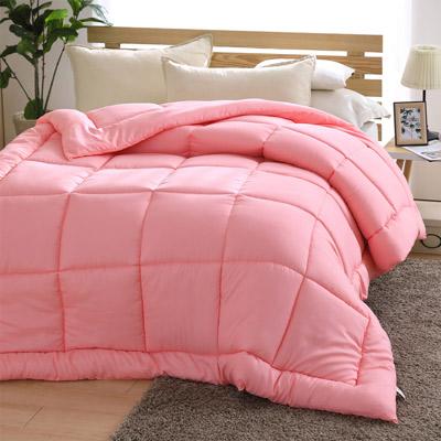 原創本色 繽紛暖心雙人羽絲絨冬被 粉色