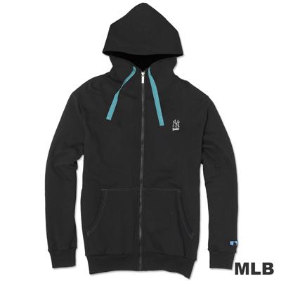 MLB-紐約洋基隊連帽運動外套-黑(男)