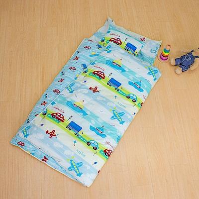 鴻宇HongYew 防蹣抗菌100%美國棉-夢想號 舖棉兩用加大型兒童睡袋