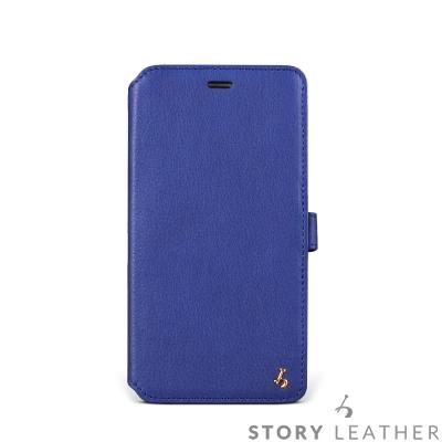 iPhone 6 Plus / 6S Plus 硬殼式側翻 NAPA藍現貨皮套