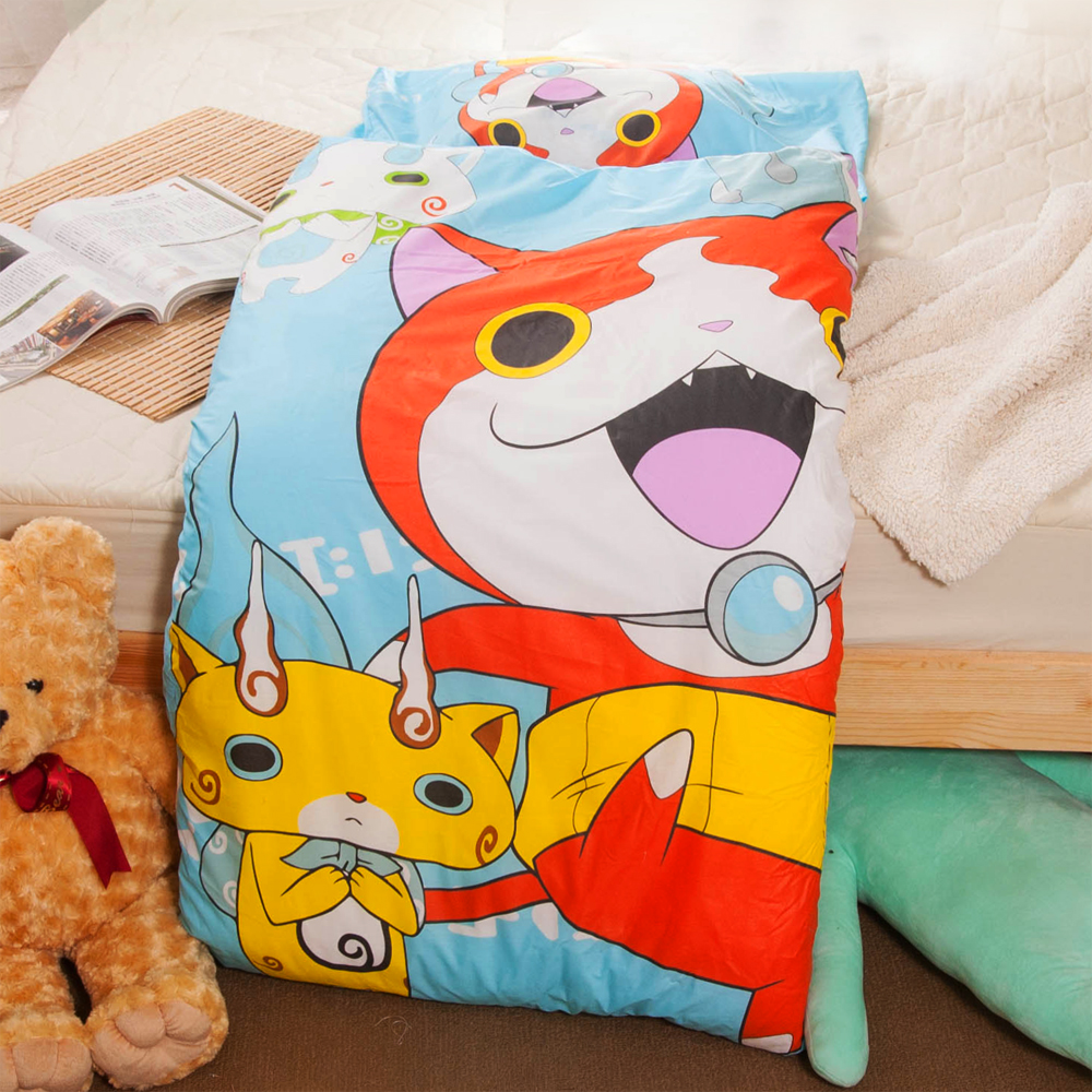 妖怪手錶-淺藍 台灣精製兒童睡袋