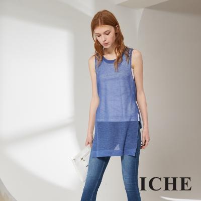 ICHE 衣哲 簡約好感百搭設計款針織造型上衣