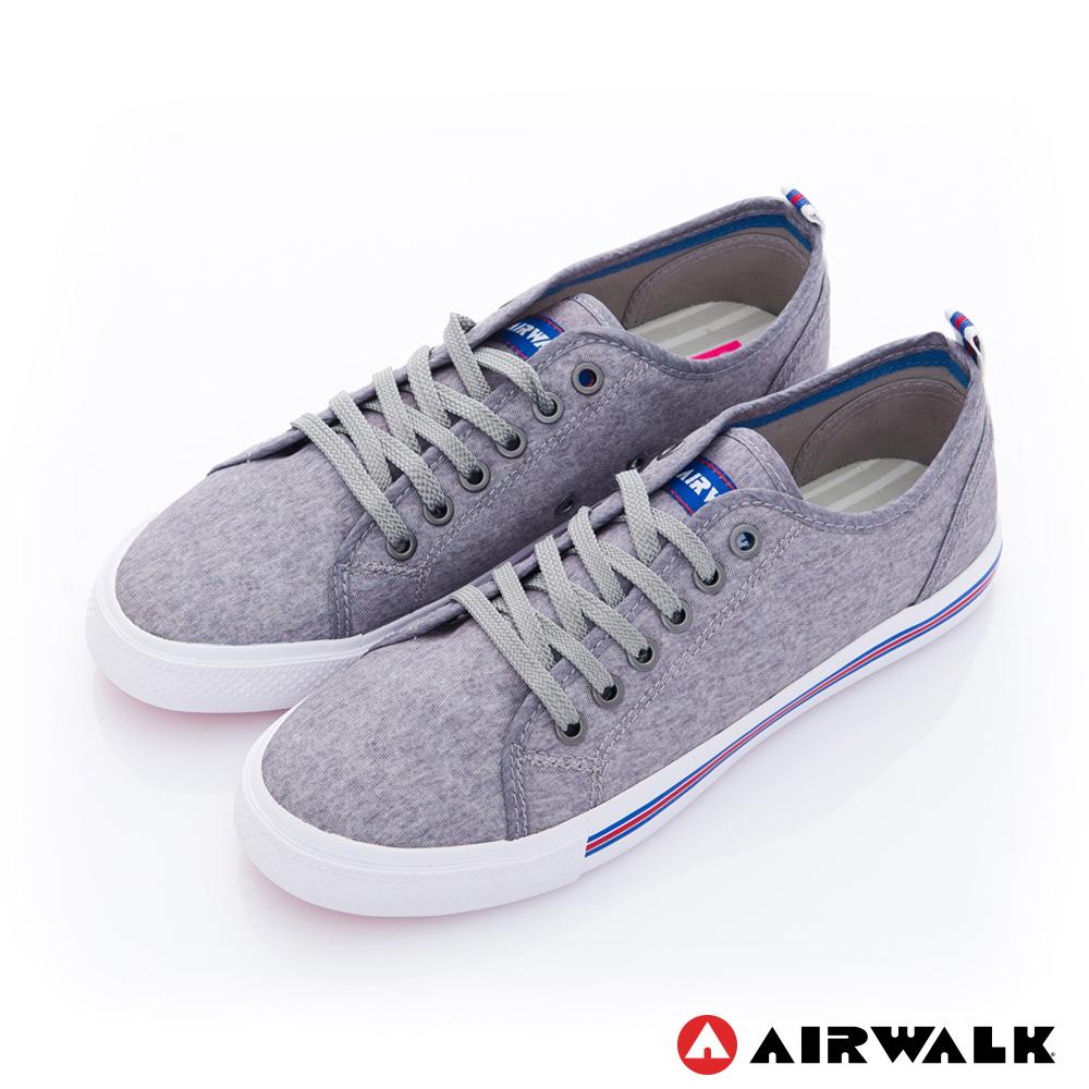 美國 AIRWALK美式百搭休閒帆布鞋-女款(灰色)