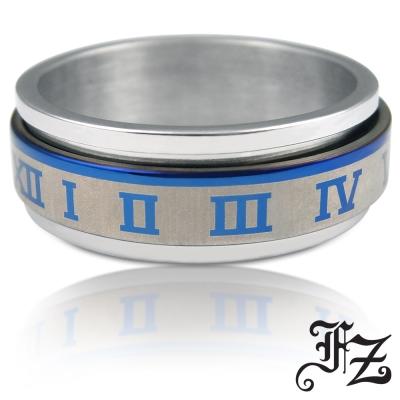 FZ 羅馬運轉白鋼戒指(內徑2公分)