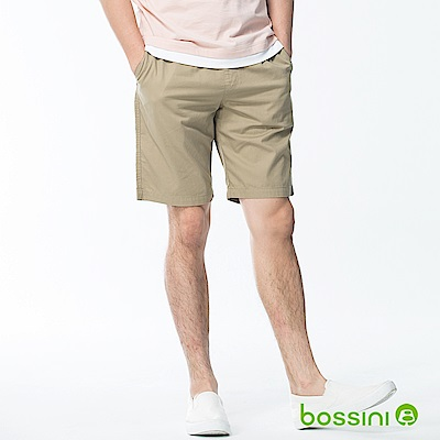 bossini男裝-素色輕便短褲01卡其