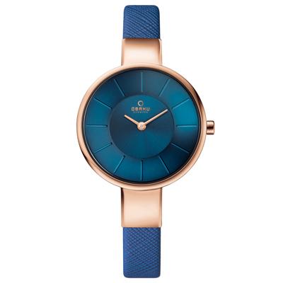 OBAKU 采麗時刻時尚腕錶-海藍/32mm