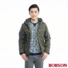 BOBSON  男款迷彩鋪棉短夾克