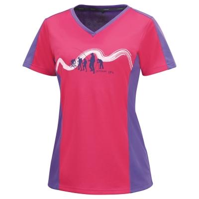 【ATUNAS 歐都納】女款吸濕排汗快乾抗UV短袖T恤 A-T1508W 桃/紫