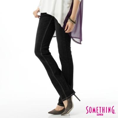 SOMETHING VIENUS釘鑽直筒牛仔褲-女-黑色