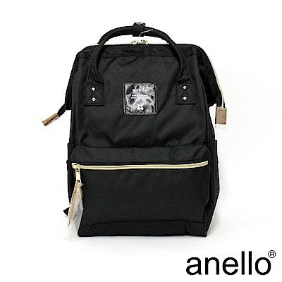 日本正版anello 經典口金後背包 黑色 M