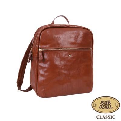 SOBDEALL-復古皮革後背包