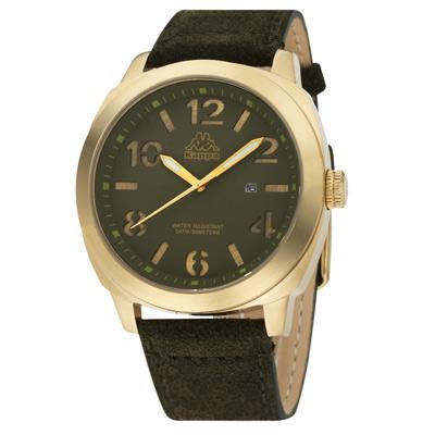 Kappa 復古玩色經典時尚腕錶-綠/47mm