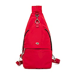 DRAKA 達卡 - 輕量防潑水單肩後背斜背胸包-紅