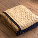 葉月 專利-3D透氣壓邊麻將型孟宗竹涼墊涼蓆竹蓆-加大雙人6X6.2尺