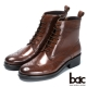 bac英倫學院 率性綁帶真皮短靴-咖啡色 product thumbnail 1