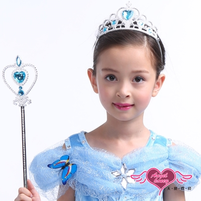 道具 冰雪公主 萬聖節派對兒童仙女棒皇冠組合(共2色) AngelHoney天使霓裳